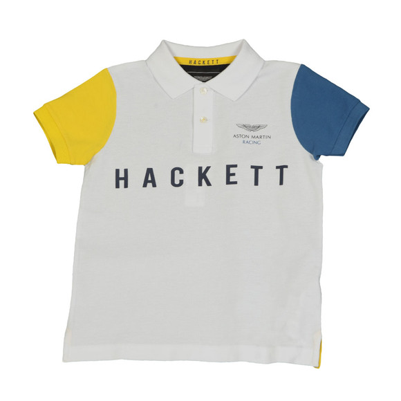 Hackett Boys White Boys AMR Multi Polo Shirt main image