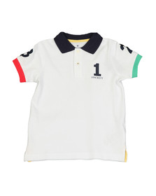 Hackett Boys White Boys Number Polo Shirt