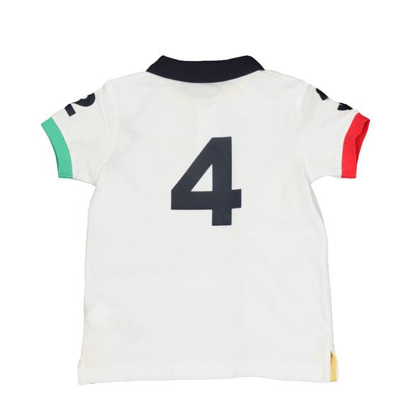 Hackett Boys White Boys Number Polo Shirt main image