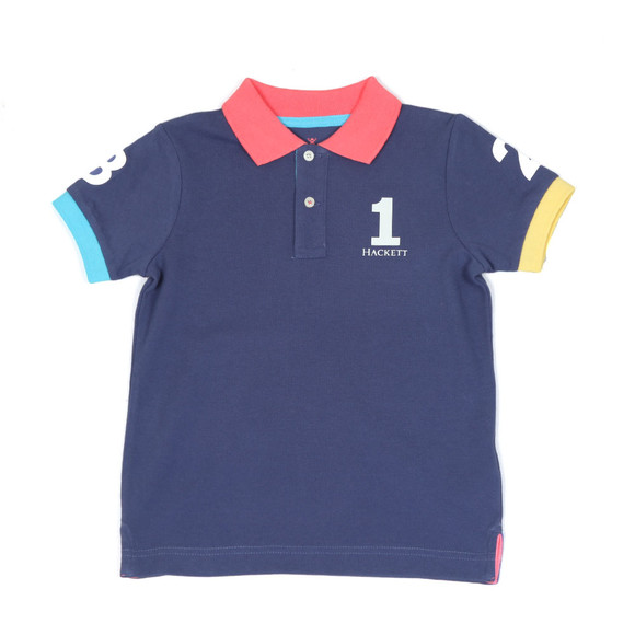 Hackett Boys Blue Boys Number Polo Shirt main image