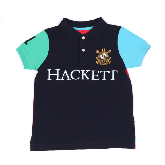 Hackett Boys Blue Boys HKT Multi Polo Shirt main image