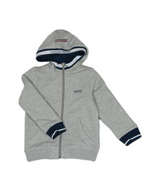 Boss Boys Grey Boys J25C27 Full Zip Hoody