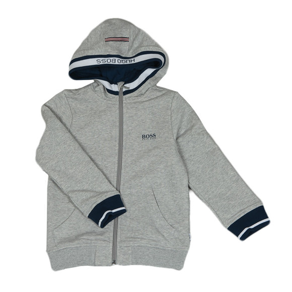 Boss Boys Grey Boys J25C27 Full Zip Hoody main image