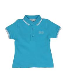 Boss Boys Blue Baby Tipped Polo Shirt