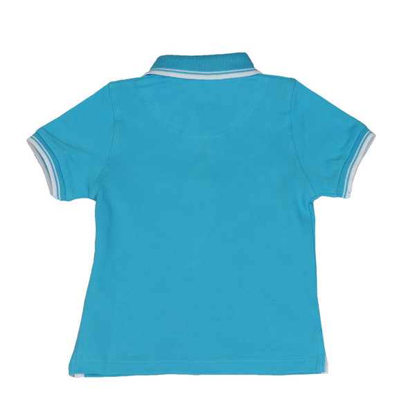 BOSS Boys Blue Baby Tipped Polo Shirt main image