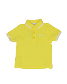 Boss Boys Yellow Baby Tipped Polo Shirt