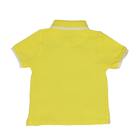 BOSS Bodywear Boys Yellow Baby Tipped Polo Shirt main image