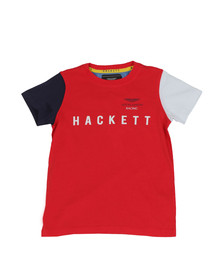 Hackett Boys Red Boys AMR Multi T Shirt