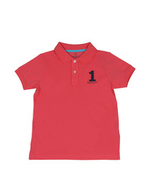 Hackett Boys Pink Boys New Classic Number Polo