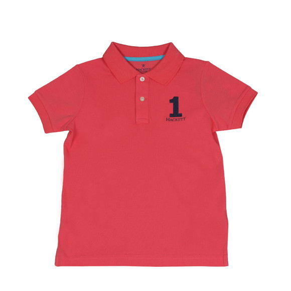 Hackett Boys Pink Boys New Classic Number Polo main image