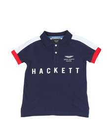 Hackett Boys Blue Boys AMR Multi Win Polo Shirt