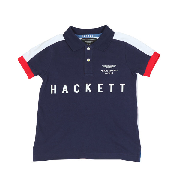 Hackett Boys Blue Boys AMR Multi Win Polo Shirt main image