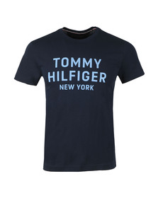 Tommy Hilfiger Mens Blue S/S Dashing Graphic Tee