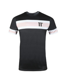 Eleven Degrees Mens Black S/S S Soccer Tee