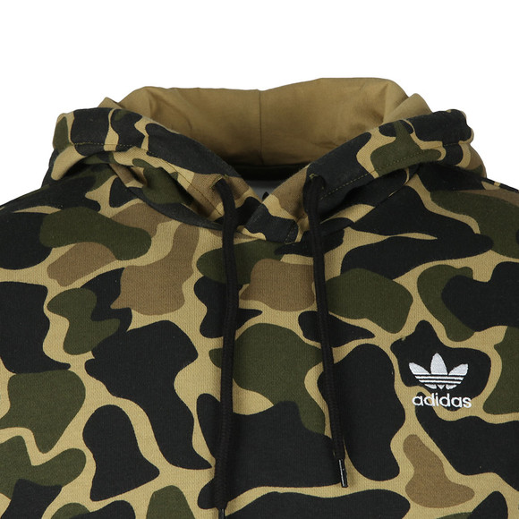 Adidas Originals Mens Green Camo Hoodie main image