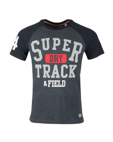 Superdry Mens Blue S/S Trackster Baseball Tee