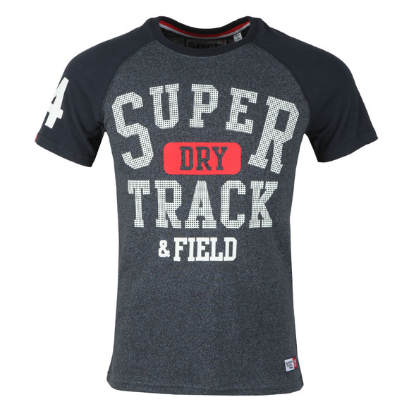 Superdry Mens Blue S/S Trackster Baseball Tee main image