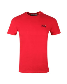 Superdry Mens Red S/S Vintage Emb Tee