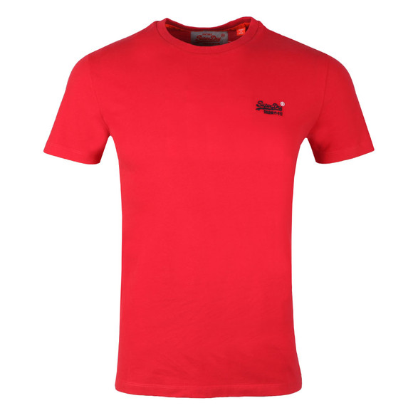 Superdry Mens Red S/S Vintage Emb Tee main image