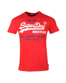 Superdry Mens Red Shirt Shop Duo Lite Tee