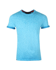 Superdry Mens Blue S/S Low Roller Tee
