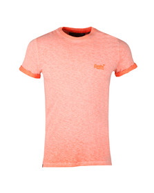 Superdry Mens Orange S/S Low Roller Tee