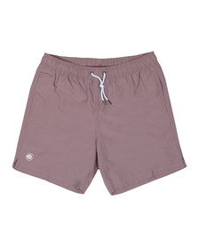 Pretty Green Mens Pink Logo Swim Shorts