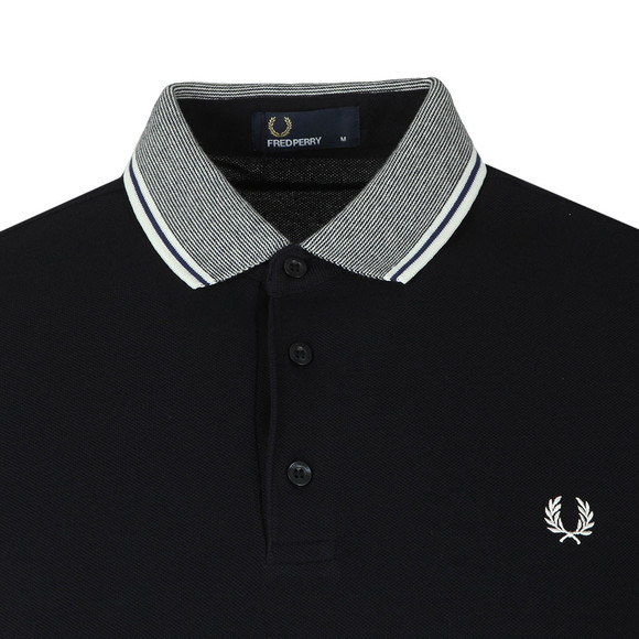 Fred Perry Mens Blue S/S Stripe Collar Polo main image