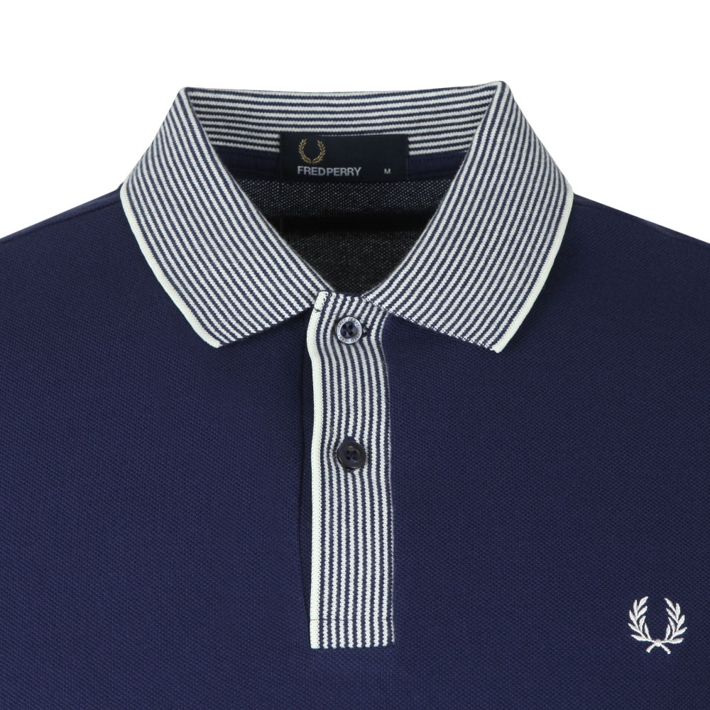 S/S Stripe Collar Pique Polo main image