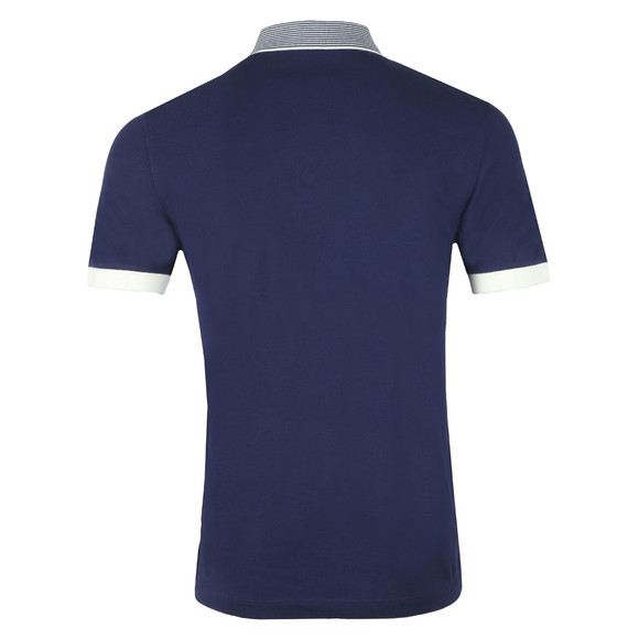 Fred Perry Mens Blue S/S Stripe Collar Pique Polo main image