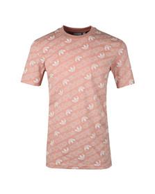 Adidas Originals Mens Pink S/S Aop Tee