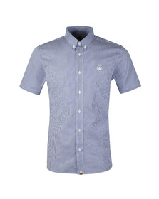 Pretty Green Mens Blue S/S Gingham Check Shirt