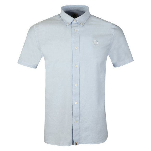 Pretty Green Mens Blue S/S Oxford Shirt main image