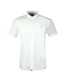 Pretty Green Mens White S/S Oxford Shirt