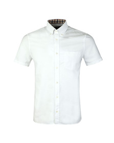 Aquascutum Mens White Bevan Classic SS Oxford Shirt