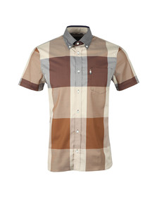 Aquascutum Mens Brown Henlake Giant CC Shirt