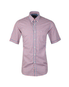 Paul & Shark Mens Multicoloured Gingham Short Sleeve Shirt
