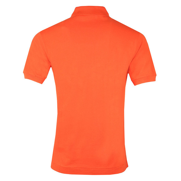 Lacoste Mens Orange L1212 Plain Polo Shirt main image