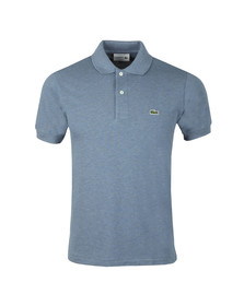 Lacoste Mens Blue S/S L1264 Plain Polo