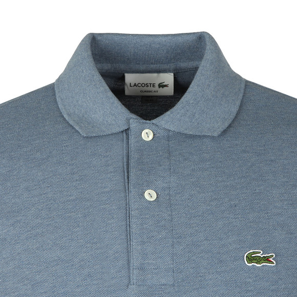 Lacoste Mens Blue S/S L1264 Plain Polo main image
