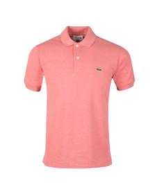 Lacoste Mens Pink Lacoste L1264 Plain Polo