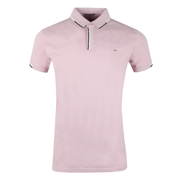 Weekend Offender Mens Pink Cather Polo Shirt main image