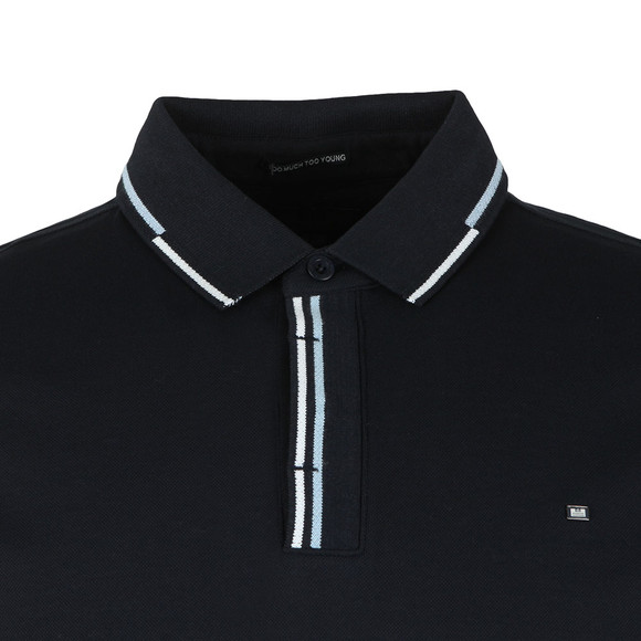 Weekend Offender Mens Blue Cather Polo Shirt main image
