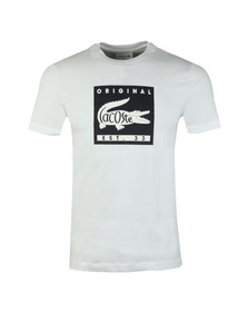 Lacoste Mens White TH7461 Print Tee