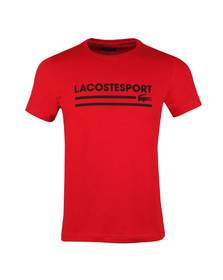 Lacoste Sport Mens Red S/S TH3341 Tee
