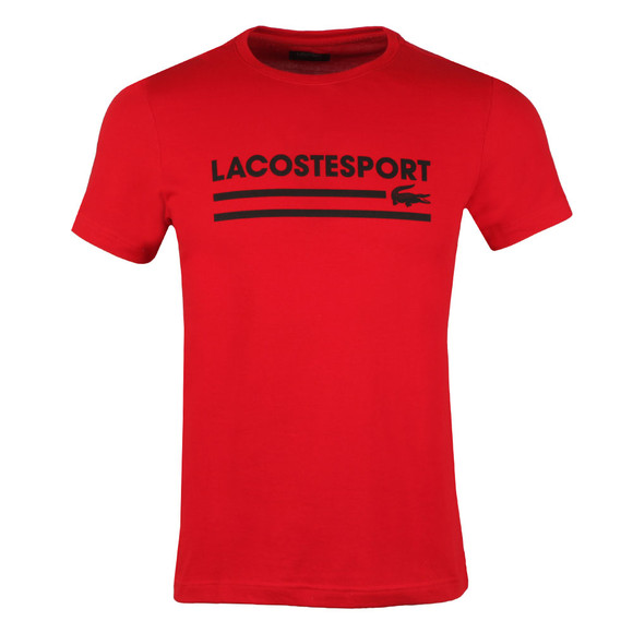 Lacoste Sport Mens Red S/S TH3341 Tee main image
