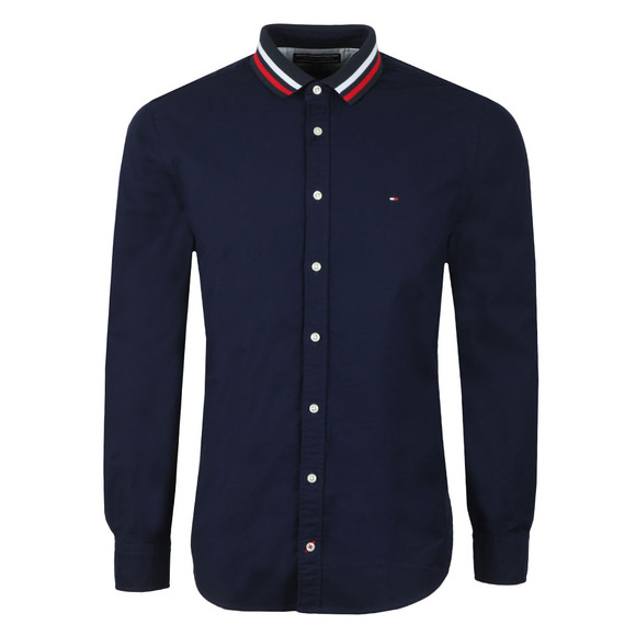 Tommy Hilfiger Mens Blue L/S Rib Collar Shirt main image