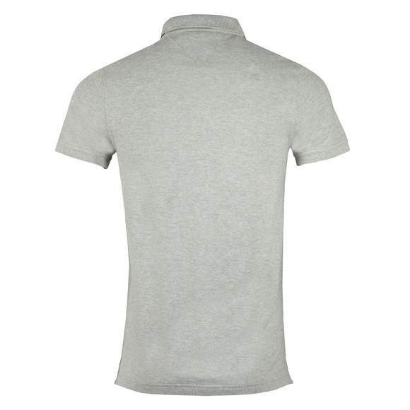 Tommy Hilfiger Mens Grey S/S Chest Stripe Polo main image