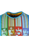 Pretty Green X Beatles Mens Blue S/S Beatles Face Print Tee