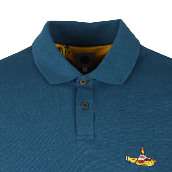 Pretty Green X Beatles Mens Blue S/S Beatles Submarine Polo main image